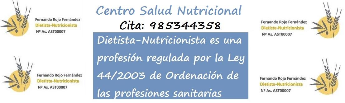 Centro Salud Nutricional, consulta privada de Fernando Rojo Fern�ndez, dietista-nutricionista, dietas personalizadas en Gij�n, Asturias